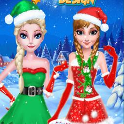 Frozen Sister Christmas Hairstyle Design