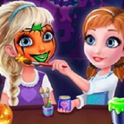 Frozen Sisters Halloween Face